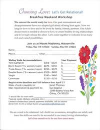 Choosing Love : Let's Get Relational Weekend Workshop